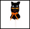Cat    Lollipop Cover  : Halloween Black Cat Crafts for Kids