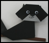 Origami    Black Cat   : Scary Black Cats Crafts Ideas for Children