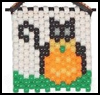 Beaded    Black Cat Banner