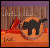Black    Cat Card  : Halloween Black Cat Crafts for Kids