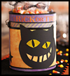 Cat Treat Tin : Scary Black Cats Crafts for Children
