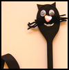 Wooden    Spoon Cat     :  Black Cats Crafts Projects