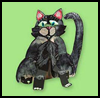 Black    Cat Window Watchers  : Halloween Black Cat Crafts for Kids