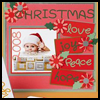 Baby's Christmas Scrapbook Page : Scrapbooking Crafts Ideas for Kids