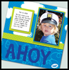 Ahoy Scrapbook Page : Scrapbooking Crafts Ideas for Kids