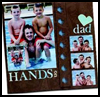 Dad's Hands-On Scrapbook Page : Scrapbooking Crafts Ideas for Children