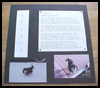 """My Shadow"" Pet Tribute Scrapbooking Layout : How to Make a Scrapbook Directions for Kids"