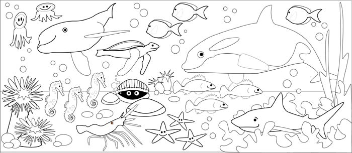underwater coloring pages - drawing competion class 1 underwater world indusladies