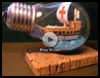 Recycle an Old Light Bulb into a Ship in a Bottle Crafts Instructions