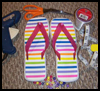 Beaded   Flip Flops  : Shoe Crafts Ideas for Kids