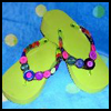 Embellished   Flip Flops   : How to Decorate Your Shoes Activities for Kids