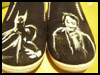 Batman   Shoes  : Shoe Crafts Ideas for Kids