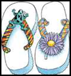 Fun   Time Flip-Flops    : Decorating  Flip Flops Activities for Children