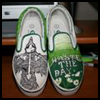 Artist's   Canvas Painted Shoes  : Shoe Crafts Ideas for Kids