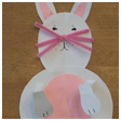 Easter Bunny with Springy Arms & Legs Picture Craft for Kids