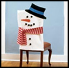 Snowman    Chair Covers    : Winter Snowman Craft Ideas