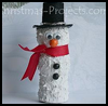 Wine    Cork Snowman     : Christmas Snowman Craft Activities