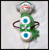 Snowman    on a Stick   : Snowmen Crafts for Children