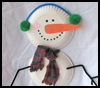 Paper    Plate Snowman   : Snowmen Crafts for Children