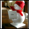 Snowman    Place Cards  : Snowman Crafts for Kids