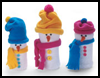 Sock    Snowman    : Winter Snowman Craft Ideas
