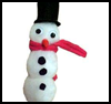Snowman    Magnet or Pin   : Snowmen Crafts for Children