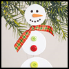 Dangling    Snowman    : Winter Snowman Craft Ideas