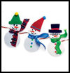 Snowman    Garland    : Winter Snowman Craft Ideas
