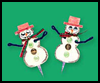 Sleepy    Snowperson Jewellery  : Snowman Crafts for Kids
