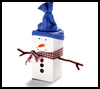 Tea    Box Snowman    : Winter Snowman Craft Ideas