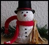 Clay<br />  Pot Snowman