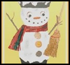 Snowman    Pot Candle Holder