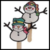 Snowman    Puppets  : Snowman Crafts for Kids