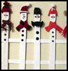 Snowmen    Fence    : Winter Snowman Craft Ideas