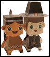 Paper   Pilgrim Boy   : Thanksgiving Pilgrim Crafts Projects for Children