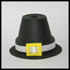 Clay   Pot Pilgrim Hat  : Pilgrim Crafts Ideas for Kids