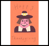 Pilgrim   Card   : Thanksgiving Pilgrim Crafts Projects for Children