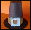 Pilgrim   Hat Favors  : Crafts with Pilgrims