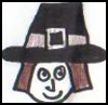 Paper   Plate Pilgrim Boy   : Thanksgiving Pilgrim Crafts Projects for Children