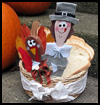Hungry   Pilgrim Bread Basket   : Thanksgiving Pilgrim Crafts Projects for Children