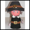 Paper   Cup Pilgrim Boy   : Thanksgiving Pilgrim Crafts Projects for Children