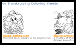 Holidaycolor.com : Thanksgiving Coloring Pages