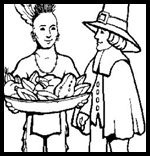 Hubpages.com : Thanksgiving Coloring Printables
