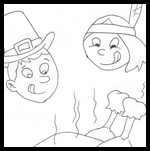 Easy-child-crafts.com : Thanksgiving Coloring Printouts