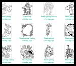 Coloring-pages-kids.com : Thanksgiving Coloring Printouts