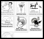 Fun-with-pictures.com : Thanksgiving Coloring Printables