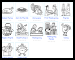 Thecolor.com : Thanksgiving Coloring Pages