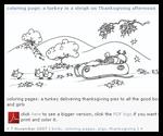 Bluebison.net : Thanksgiving Coloring Printouts
