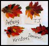 Family   Tree Leaf Pins   : Thanksgiving Crafts Activities for Children