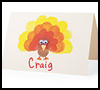 Finger   Stamp Place Cards   : Thanksgiving Crafts Activities for Children